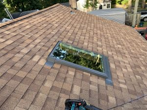 New Roof and Skylights in Brick, New Jersey